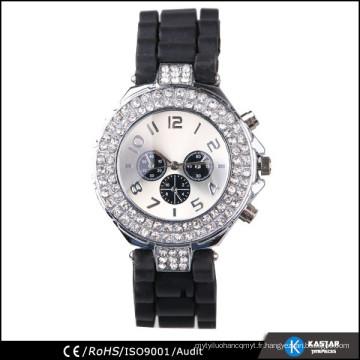 Boîte de montre en diamant synthétique, montre quartz résistant à l'eau
