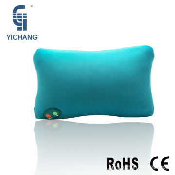 Hot selling back support cushion battery type vibrating car neck travel pillow