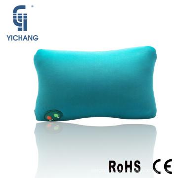 Venda quente de volta apoio almofada tipo de bateria carro de vibração pescoço travesseiro de viagem