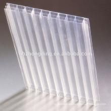 Diez años de garantía Triple pared de policarbonato hoja de material de invernadero