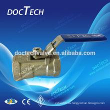 Industriales válvula de bola solo reducir puerto con la mirada palanca disponible 1000 WOG hecho en China