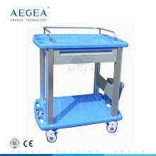 AG-CT010A3 CE ABS-Kliniken, die medizinische Laufkatze Krankenhausunfallwarenkorb ankleiden