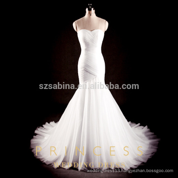 2017 chiffon mermaid wedding dress with real photos