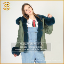 New Style Custom Cheap épaisses adultes Real Fur Parka pour Lady