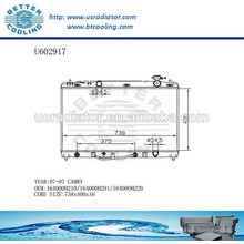 Radiador de aluminio para TOYOTA CAMRY 07-07 164000H210 / 164000H291 / 164000H220 Fabricante y Venta directa