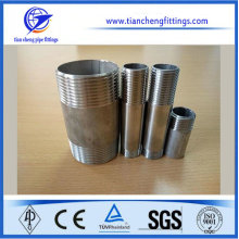 SS304 Stainless Steel Female Weld Hexagon Nipple