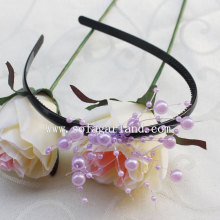 Best Quality for Beaded Hairband Latest Fashion Elastic Pearl Garland Hairband Accessories export to Iraq Supplier