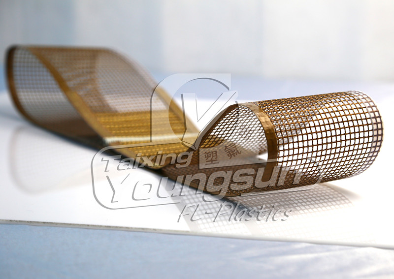 Ptfe Teflon Coated Open Mesh Fiberglass Fabric Conveyor Belt 16