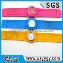 Relógio de silicone quente sel wholesalel para a promoção, do silicone personalizado slap relógios