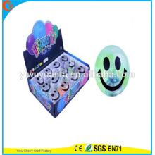 Горячие продаем детские подарок резиновые улыбчивый светодиодный проблесковый освещение воды прыгающий мяч