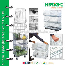 Stacking wire basket display