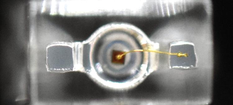 through-hole LED bond