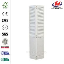 24 дюйма х 80 дюймов Woodgrain 2-панельный Half Louver Solid Core Деревянный внутренний шкаф Двустворчатая дверь