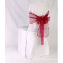 Polyester Chair Covers with organza sash for wedding/banquet