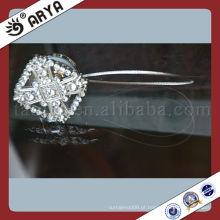 Cortinas quadradas com clipes magnéticos com cortina de diamante Shinning Tiebacks With Feather