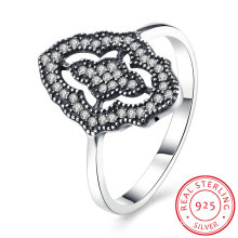 925 Sterling Silver Round Shape Zircon Western Style Jewelry
