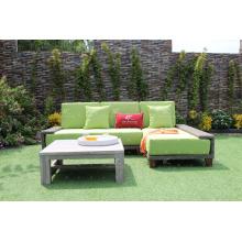 Amazing Design Poly Resin Rattan Modular Sofa Set Mit Liege Für Outdoor Garten oder Wohnzimmer Wicker Möbel