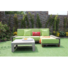 Amazing Design Poly Resin Rattan Modular Sofa Set With Lounger For Outdoor Garden or Living Room Wicker Furniture