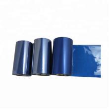 Compatível 110 * 300 cor azul resina fita de transferência térmica Industrial impressora de código de barras zebra 110 xi4 impressora fita