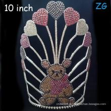 Coroa de tiara colorida feita sob encomenda do urso