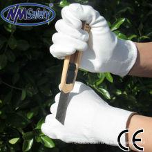 NMSAFETY uso resistente al corte PU shell en guantes resistentes al corte