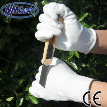 NMSAFETY cut resistant use PU shell on cut resistant liner gloves