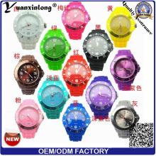 Yxl-347 Customized Logo Mens Geneva Watche Ice Silicone Quartz Sports Wrist Watch High Quality Cheapest Wholesale