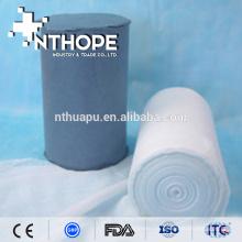 Rollo de gasa hidrófila absorbente de algodón médico Rollo de gasa hidrófila absorbente de algodón médico