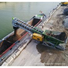 Ske Radial Telescopic Mobile Ship Loader Belt Conveyor System Price, Rubber Belt Conveyor