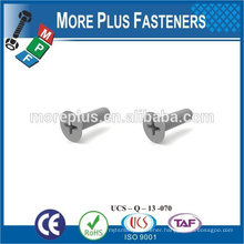 Made in Taiwan White Color Flat Head Phil Drive Nylon Screws