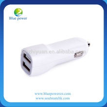 CE ROHS approved good quality 2 usb port car charger/portable best price car charger usb