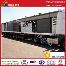 Двойной палубе контейнера супер ссылка грузовой транспорт полуприцеп