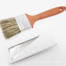 PSB-006 Grey Bristle Dark Red Plastic Handle With Hole Paint Brush