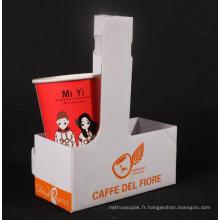 Papier à emporter café tasse papier titulaire boîte