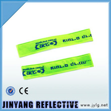 china LED pvc reflective slap wrap elastic reflective armband