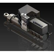 Système hydraulique d'entraînement du support du collecteur
