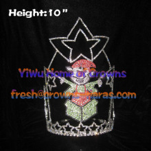 Elf Rhinestones Happy Christmas Crowns