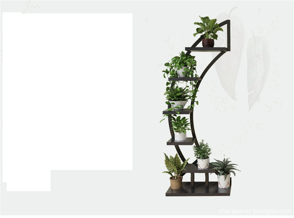 environmentally wooden flower shelf