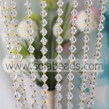 For Event 14MM&4MM Wired Plastic Beading Garland Trimming
