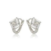 97384 xuping fashion bonne qualité doré zircon synthétique dames exquis boucles d'oreilles créoles