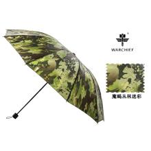 Jefe de guerra 25 pulgadas militar impermeable al viento paraguas plegable en Camo