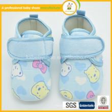 2016 venda quente de alta qualidade feitos à mão personalizados bonitos sapatos de bebê bonitos de algodão atacado sapatos de mocassim de bebê sapatos de criança