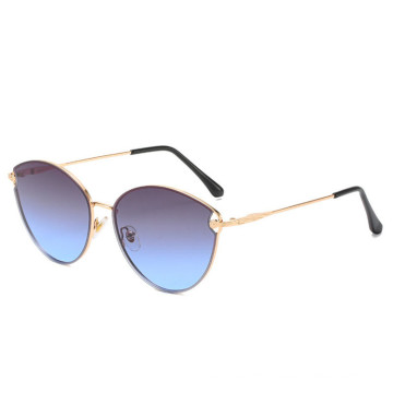 Popular rimless gradient shades The best factory price  colored lens sunglasses