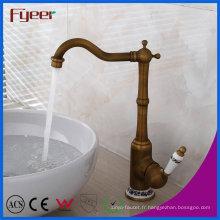 Nouveau robinet en laiton antique de mélangeur de mélangeur d'eau de robinet de bassin
