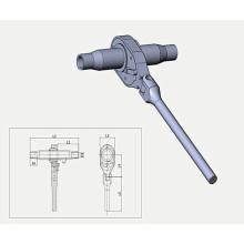 Складывающаяся рукоятка с трещоткой для винтового уплотнителя