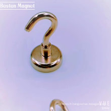 Crochet à serviette magnétique en néodyme en forme de coupe de 42 mm