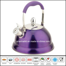 Soft Touch Handle Stainless Steel Whistle Kettle Kitchenware