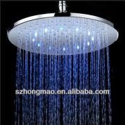 LED color change ABS chrome shower head