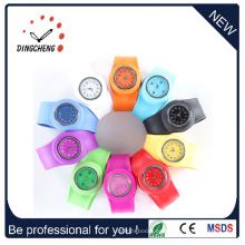 Relojes del espejo de la goma de silicona del color del caramelo del OEM (DC-1357)