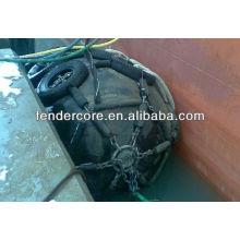 guardabarros de goma flotante neumático usado para el barco, muelle, barco